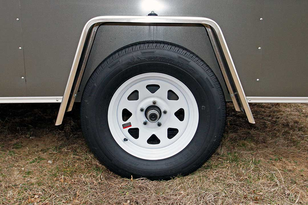 White Spoke Wheels with E-Z Lube Hubs (Single Axle)