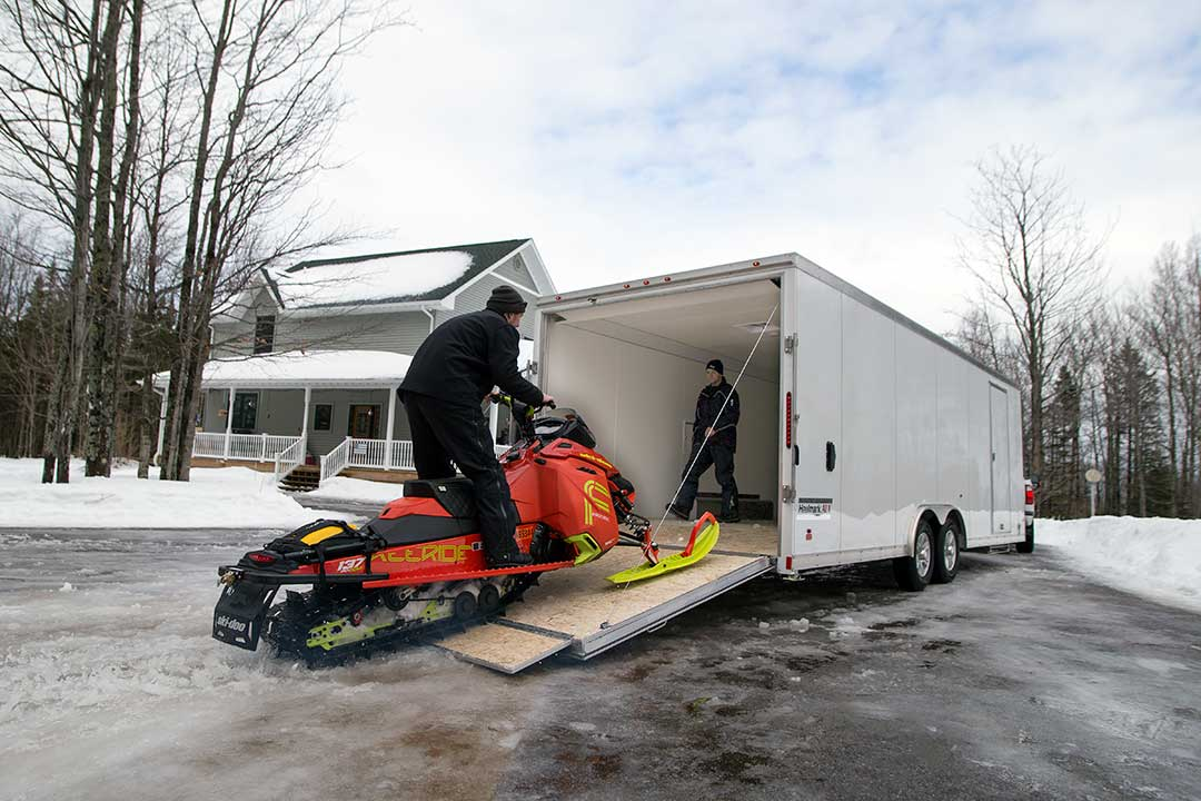 ALX All-Sport Loading Snowmobile